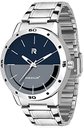 Redux Stainless Steel Blue & Grey Dial Analog Mens Watch (RWS0042S)