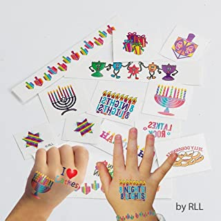 Rite Lite TYN-8 Chanukah Temporary Tattoos44; 15 Designs44; Carded