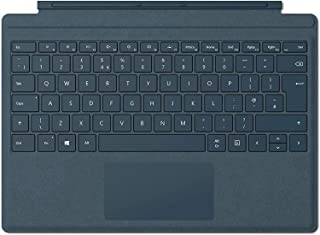 Microsoft Surface Pro Alcantara Signature Type Cover, Backlit Keyboard - Cobalt Blue | Arabic/English layout