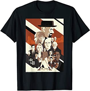 Breaking Bad 10th Anniversary Retro Character Collage Poster T-Shirt