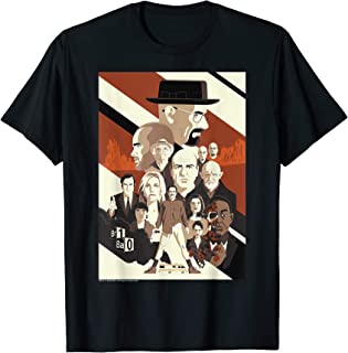 10th Anniversary Retro Character Collage Poster T-Shirt