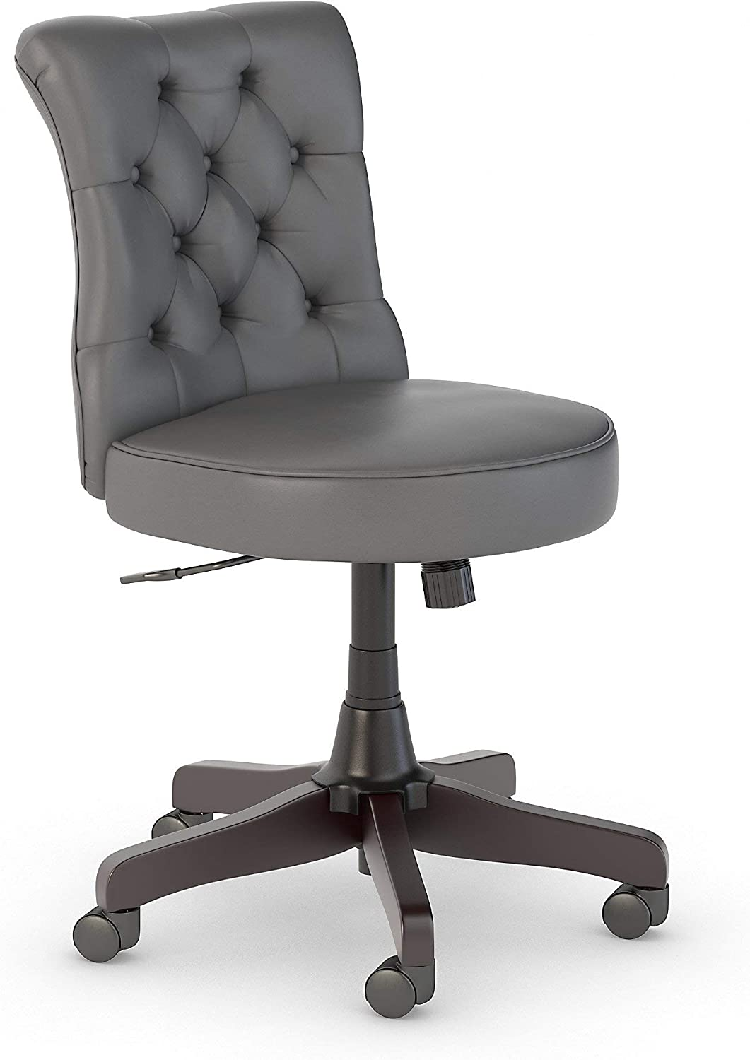 Bush Business Furniture Arden Lane Mid Back Tufted Office Chair, Dark Gray Leather