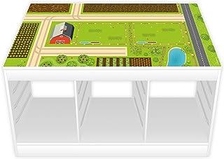 comprar comparacion nikima – Película de juego/lámina de muebles para Ikea Trofast, diseño de granja