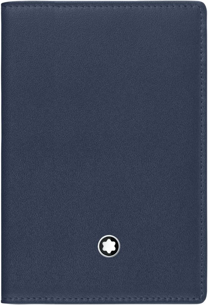 Montblanc Business Card Case 114554 Industry No. 1 Marine Lowest price challenge - Blue