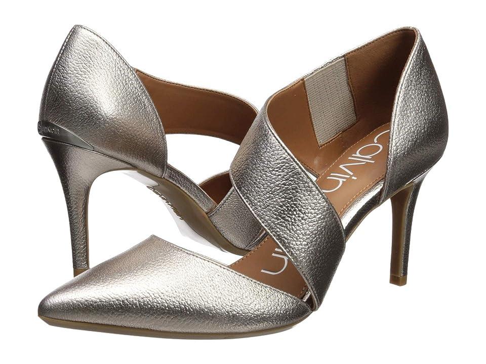 Calvin Klein Gella (Soft Platinum Metal Grain) High Heels