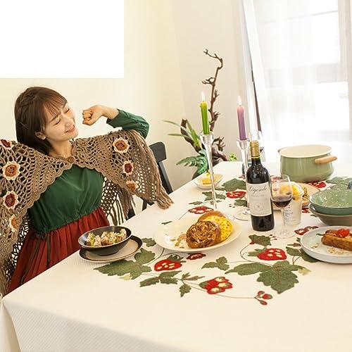 European-Style Tischdecken Stickerei-Tuch  Baumwolltischdecken  Kaffee  garden Restaurant Tischdecken Tischdecken-A 180x135cm(71x53inch)