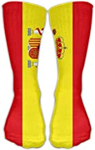 HJKAA Calcetines Hombres Mujer Spanish Flag Unisex Crew Socks Short Sports Socks 1 Pair
