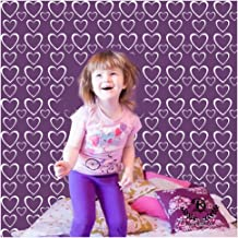 Kayra Decor Hearts Reusable DIY Wall Stencil Painting for Home Decoration (PVC, 16-inch x 24-inch)