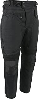 M-BOSS MOTORCYCLE APPAREL-BOS15572-BLACK-Men's waterproof and zip-out insulated ce armor motorcycle pants.-BLACK-LARGE