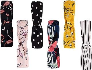 NEWTIDE Boho Headbands for Women Fashion Headbands with Criss Cross Elastic Hair Accessories 6 Pack
