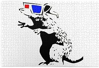 1000ピース ジグソーパズル バンクシー Banksy ネズミ 大人 ティーンズ用Jigsaw Puzzle 木製 おもちゃ DIY 壁飾り レジャー 親子ゲーム プレゼント 壁掛け 知育玩具 贈り物 インテリア 収納ケース付き 75cm*5...
