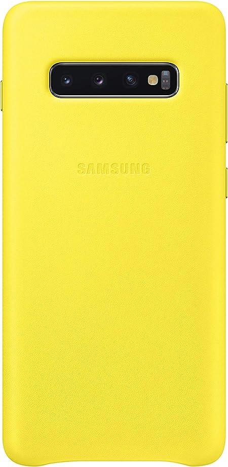 Leather Cover Für Galaxy S10 Gelb Elektronik