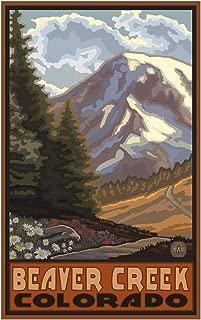 Beaver Creek Colorado Springtime Mountains Travel Art Print Poster by Paul A. Lanquist (12