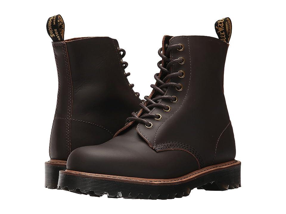 Dr. Martens Pascal II 8-Eye Boot (Dark Brown Montelupo) Women