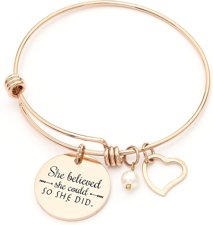 Award-winning store Luvalti Bangle Bracelet Engraved She she Portland Mall Could d Believed so