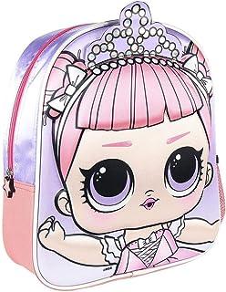 Mochila Infantil LOL Surprise en 3D - Licencia Oficial LOL Surprise, Multicolor (2100003015_)