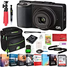 Ricoh GR II 16.2 MP Digital Camera with Wi-FI Bundle with Photo and Video Professional Editing Suite, 32GB SDHC Memory Card and Camera Bag