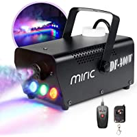 Miric ML-4 400W Portable Fog Machine with LED Lights Equipped with Wired and Wireless Remote Control