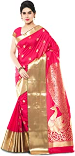 VARKALA SILK SAREES Women's Paithani Design Katan Silk Saree (Free size)