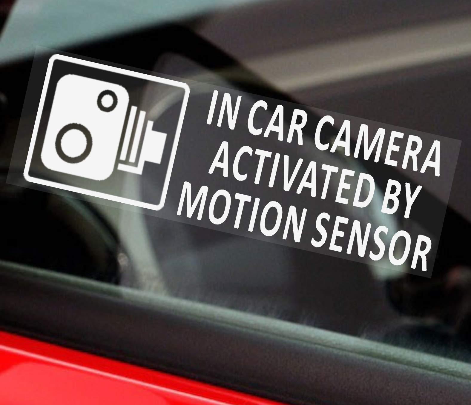 5 Pegatinas de seguridad para vehículo, advertencia de cámara CCTV activada por sensor de movimiento, pegatinas para coche, furgoneta, camión, taxi, autobús, 87 x 30 mm: Amazon.es: Bricolaje y herramientas