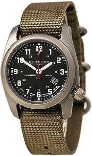 Bertucci A-2T Classic Field Watch Black/Ti-Khaki Band 12724