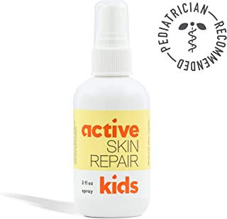 Kids Active Skin Repair Spray– The Safe, Non-Toxic & Natural Kids First Aid Spray for Minor cuts, scrapes, rashes, sunburns, Skin irritations & More. No-Sting (3oz)