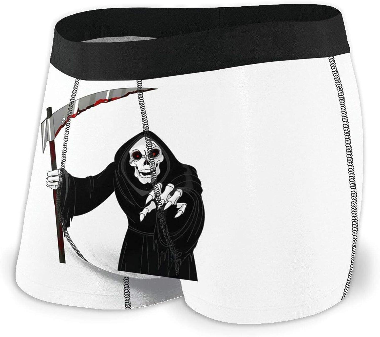 Super special price TZT Scary Grim Reaper Brand new Men's Briefs Boxer Breathable Comfortable