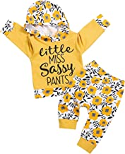 Newborn Infant Baby Girl Clothes Fall Outfits Set Toddler Long Sleeve Floral Hoodie Sweatshirt + Pants Clothing Set