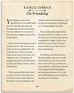 Kahlil Gibran - On Friendship - 11x14 Unframed Typography Book Page Print - Makes a Great Gift for Book Lover Couples Under $15