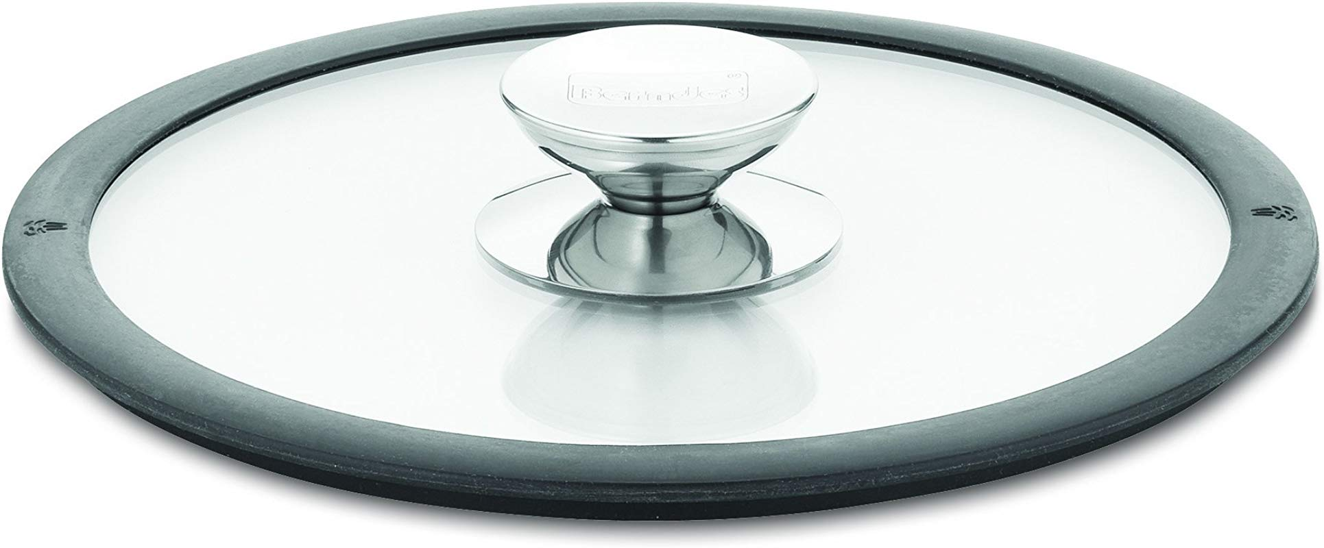Berndes 007588 11 5 Inch Glass Lid With Black Silicon Rim
