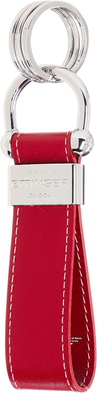 Ettinger Sterling Stirrup Keyring - Single Keychain ST152ASLRED