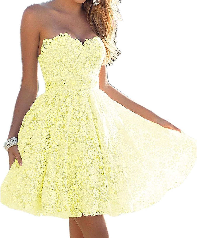 Dannifore Off Shoulder Floral Lace Bridal Gowns Short Homecoming Dresses