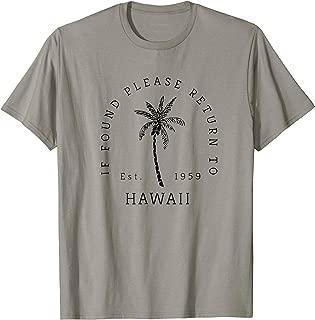 If Found Please Return To Hawaii Shirt