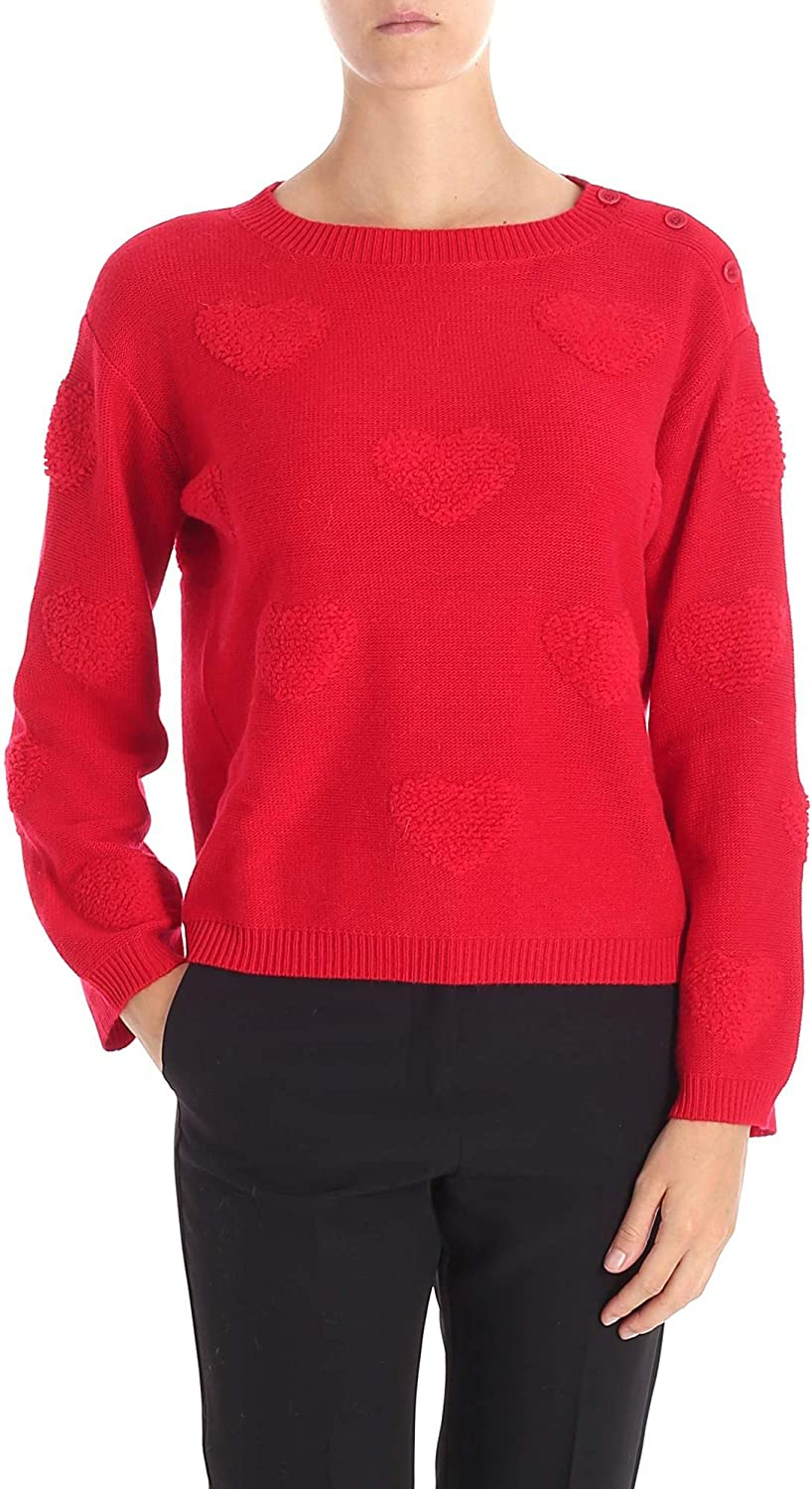 My Twin Women's JA83E100456 Red Acrylic Jumper