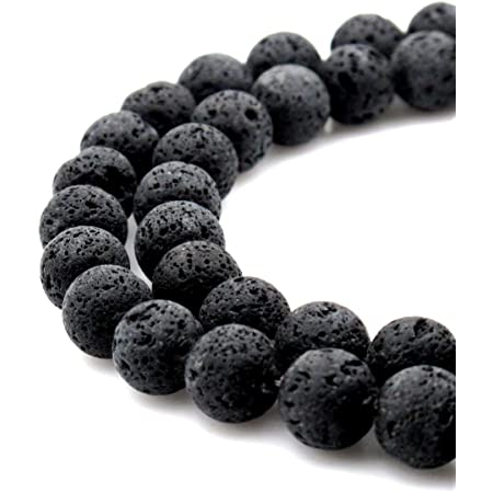 8mm Lava Beads Square Beads Black Lava Beads For Jewelry Making 15/'/'