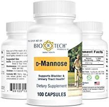 Bio-Tech Pharmacal D-Mannose, Supports Bladder and Urinary Tract Health (100 Count)