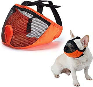 SUNNY RAIN Dog Muzzle for Barking for Short Snout Pitbulls Dog Anti Biting Chewing Eating