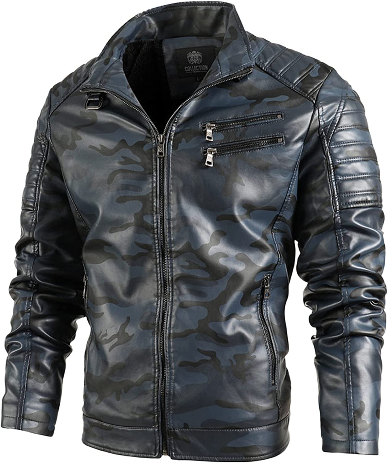 Men's Leather Jacket Fall & Winter Leather Coat Cashmere Outerwear