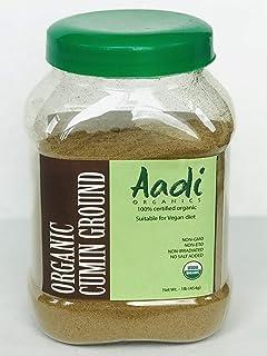 AADI ORGANICS - CUMIN POWDER, USDA ORGANIC, NON-GMO, NON-ETO, NON-IRRADIATED, NO SALT ADDED, 454g, 16Oz, 1lb, GREAT AROMA ...