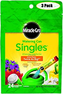Miracle-Gro 1013203 Watering Can Singles All Purpose Water Soluble Plant Food, 24-8-16, 24-Sticks (3)