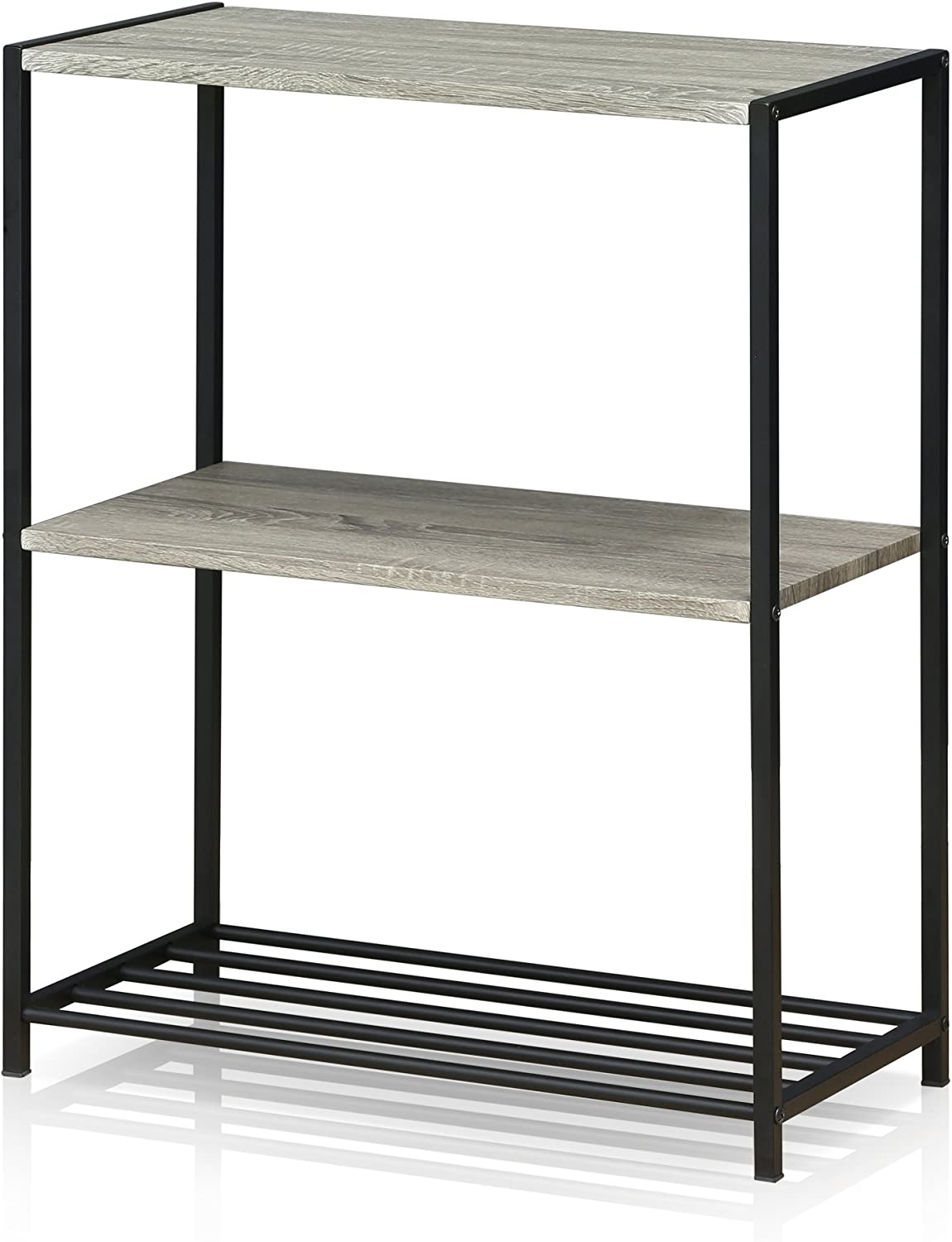 Furinno FM6075R-3DO Modern Lifestyle 3-Tier Storage Shelves, Dark Oak