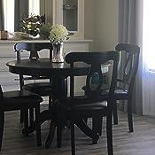 Amazon Com Angel Line Lindsey Dining Set Black Table Chair Sets