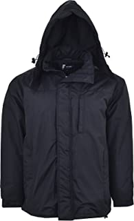 Guv'nors Mens Hooded Jacket Showerproof Windproof Quilted Winter Warm