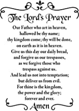 BellaCross Prayer Decor Wall Decal is a Vinyl Wall Decal Displaying a The Lord's Prayer, Great Wall Art, Sign or Decor for Your Home or Bedroom, Similar to Sticker or Poster - Black