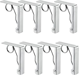 TLBTEK 8 pcs Spring Stainless Steel Picnic Tablecloth Clamps Clips to Hold Tablecloth in Place,Outdoor Large Camping Tablecloth Table Cloth Clips Holders Picnic Tables Patio Party Dining BBQ Banqu