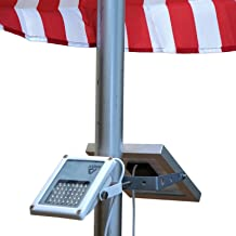 ALPHA 180X Flagpole Light 太陽街灯/フラッグポール照明用フラッグポールライト/鋳鉄製街灯は投光器として使用する場合、曲げ角180度となり、上方向と下方向の照明に使用可能/光学的設計のU-Bracketは、ポール最大直径の2.5インチ(約6cm)に適合します