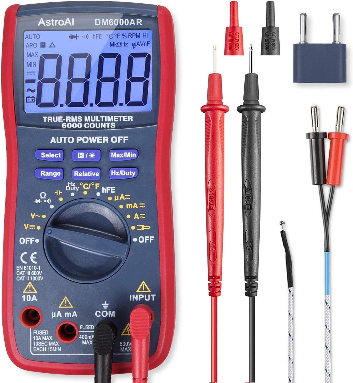 AstroAI Digital Multimeter TRMS 6000 Counts