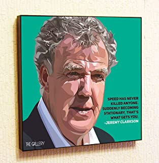 Jeremy Clarkson Top Gear Decor Motivational Quotes Wall Decals Pop Art Gifts Portrait Framed Famous Paintings on Acrylic Canvas Poster Prints Artwork (10x10