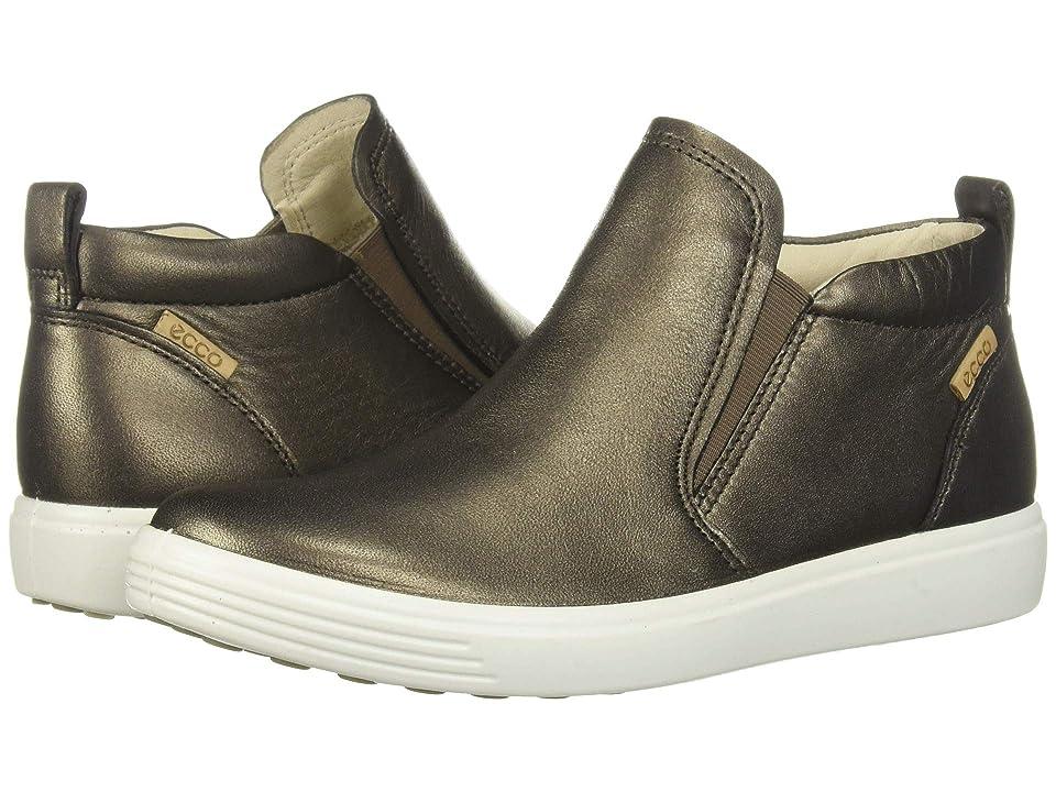 ECCO Soft 7 Slip-On Boot (Black Stone Metallic Cow Leather) Women