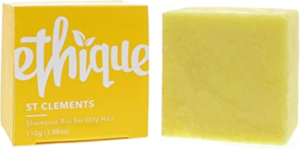 Ethique Eco-Friendly Solid Shampoo Bar for Oily Hair, St Clements - Sustainable Natural Shampoo with Lime Oil, Plastic Free, 100% Soap Free, Vegan, Plant Based, 100% Compostable and Zero Waste, 3.88oz